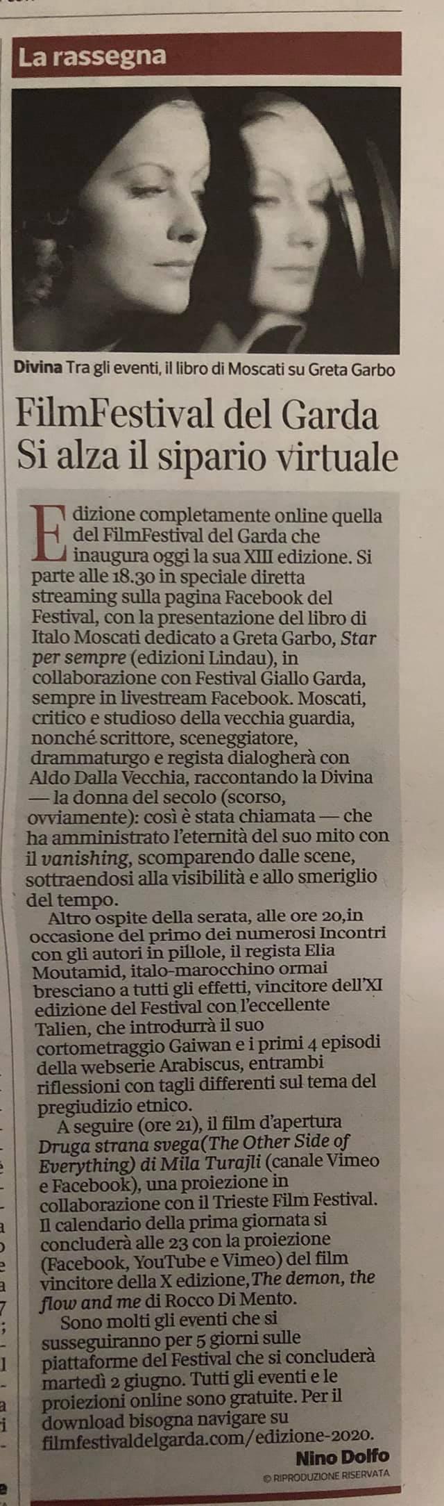 Corriere della Sera – presentazione del Festival
