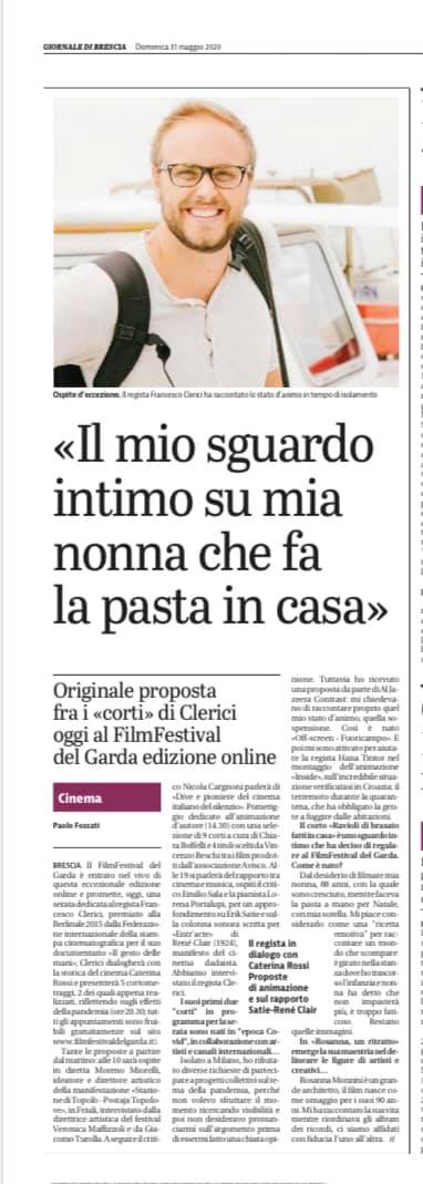 Giornale di Brescia –  intervista a Francesco Clerici
